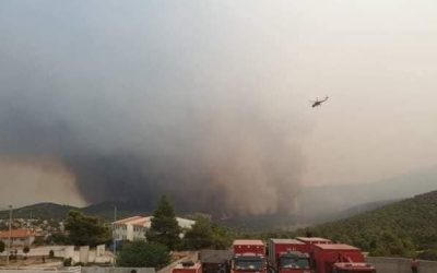 Pożary Grecja